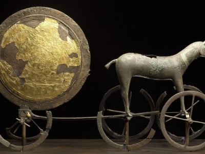 Capture d'écran The Chariot of the Sun. Trundholm, Zealand. Early Bronze Age, 14th century