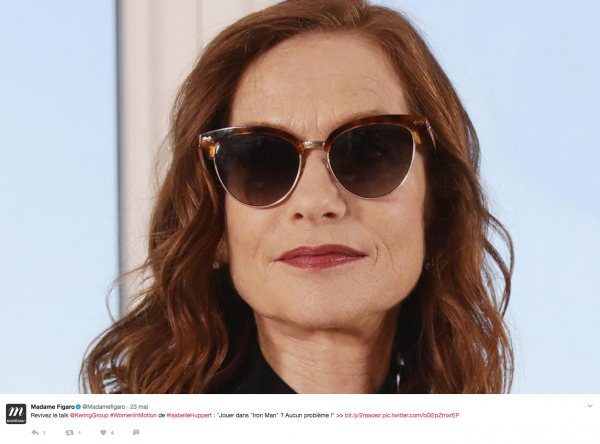 Talk Isabelle Huppert Women in Motion