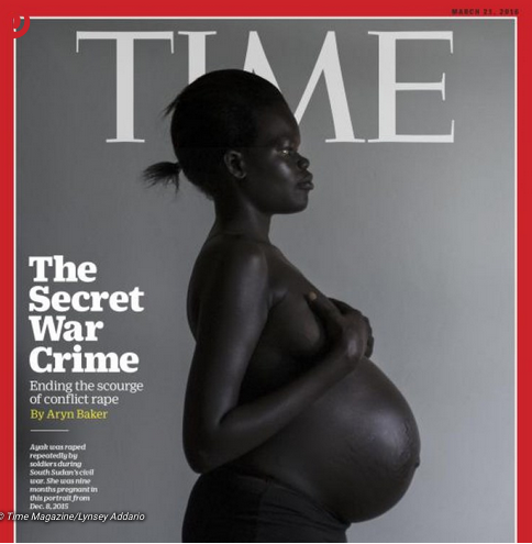 La Sud Soudanaise Ayak, violée plusieurs fois par des soldats pendant la guerre civile, pose en couverture du Time