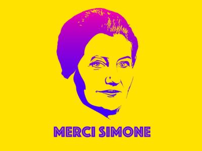 Merci Simone le collectif qui affiche Simone Veil dans Paris