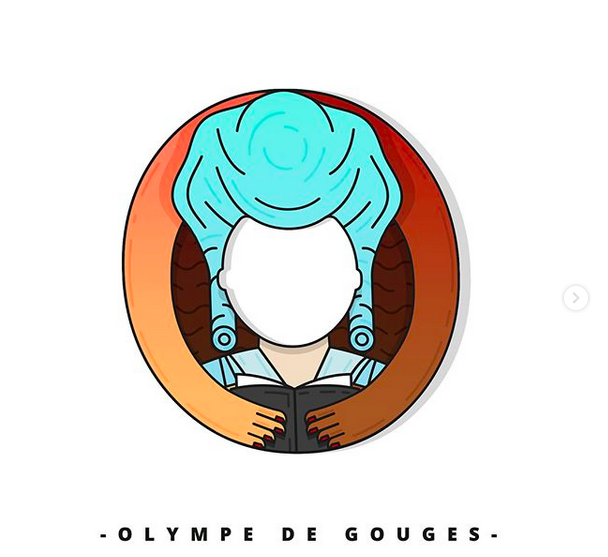 O comme Olympe de Gouges. Capture Instagram © 7codos