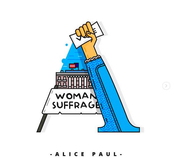 A comme Alice Paul ©Instagram 7codos