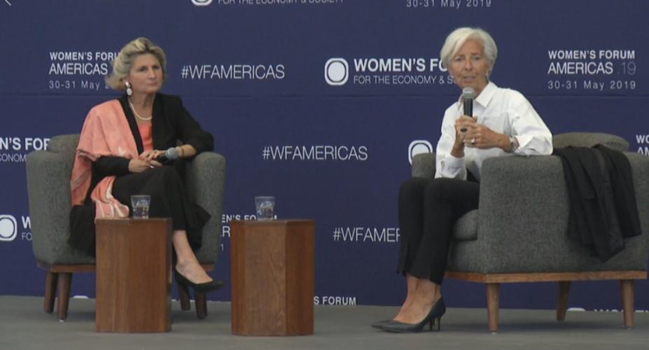 Christine Lagarde et Chiara Corraza au Women's Forum de Mexico 2019