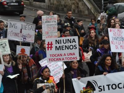 Manifestation femmes Chili Paris 2017